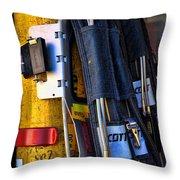 Fireman Gear Throw Pillow