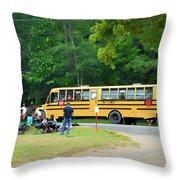 Firemen Transportation Throw Pillow