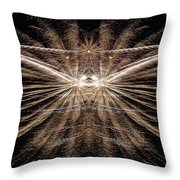 Firemoth Throw Pillow