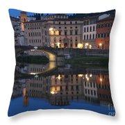 Firenze Blue I Throw Pillow