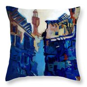Firenze Street Study Throw Pillow
