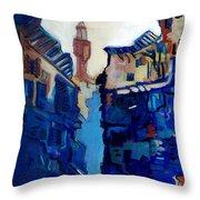 Firenze Street Study Throw Pillow