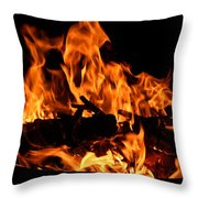 Firepit Throw Pillow