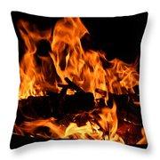 Firepit Throw Pillow