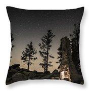 Fireplace Under The Stars Throw Pillow