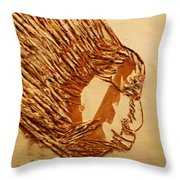 Fires Eyes - Tile Throw Pillow