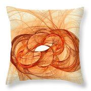 Fires Of Fusion Throw Pillow