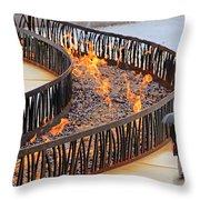 Fireside Walk Throw Pillow