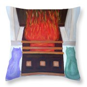 Fireside With You Throw Pillow
