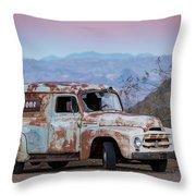 Firestone Truck Throw Pillow