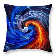 Firestorm Dancing With The Wind  Throw Pillow