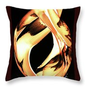 Firewater 1 - Buy Orange Fire Art Prints Throw Pillow