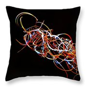 Fireweed Abstract  Throw Pillow