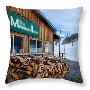 Firewood Ready To Burn In Fire Place Throw Pillow