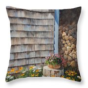 Firewood Shed					 Throw Pillow