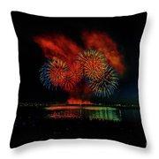 Fireworks 22 Throw Pillow