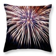 Firework Beauty Throw Pillow