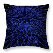 Firework Blues Throw Pillow