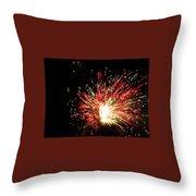 Firework Christmas Sparkle Throw Pillow