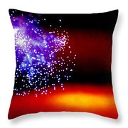 Firework Fallout Throw Pillow