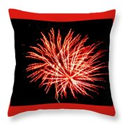 Firework Fireball Throw Pillow