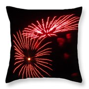 Firework Gerbera Daisies Throw Pillow