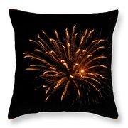 Firework Golden Lights Throw Pillow