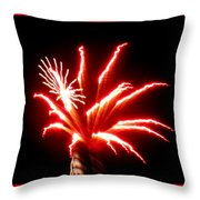Firework Hibiscus Throw Pillow