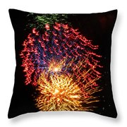 Firework Jewel Blast Throw Pillow