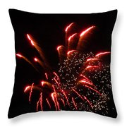 Firework Lights Of The City Throw Pillow