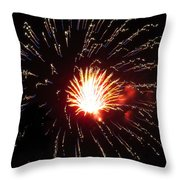 Firework Matchlight Throw Pillow