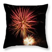 Firework Pink And Gold Throw Pillow