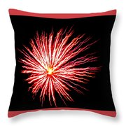 Firework Spider Mum Throw Pillow