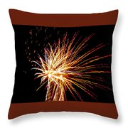 Firework Symphony Throw Pillow