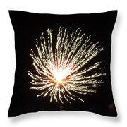 Firework White Fluff Throw Pillow