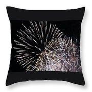 Firework Within Fireworks Throw Pillow