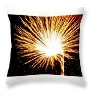 Firework Yellow Burst Throw Pillow