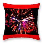 Fireworks 102 Throw Pillow