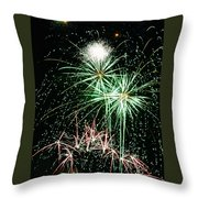Fireworks 4 Throw Pillow