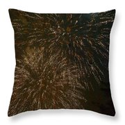 Fireworks 4 With Moon Throw Pillow