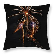 Fireworks 5 Throw Pillow by Michael Peychich