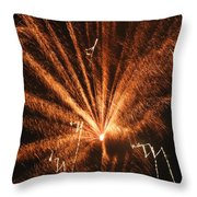 Fireworks A Different Perspective Seven Throw Pillow