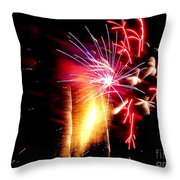 Fireworks Abstract #8 Throw Pillow