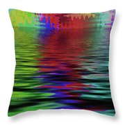 Fireworks Abstract Throw Pillow