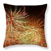 Fireworks Abstract IIi Throw Pillow