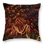 Fireworks Against The Stars Throw Pillow