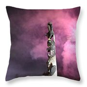 Fireworks And Totem Pole Throw Pillow