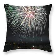 Fireworks And Wildlife Throw Pillow