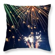 Fireworks At Maple Creek Throw Pillow