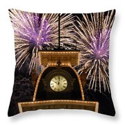 Fireworks At Ten Throw Pillow